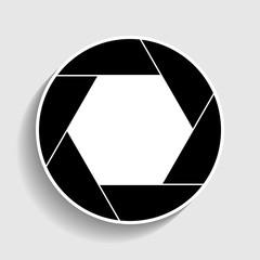 Photo sign. Sticker style icon