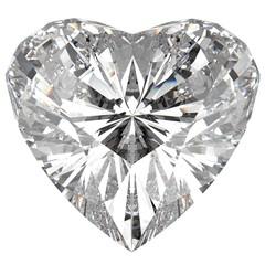 Heart Diamond. 3D illustration. 3D CG.