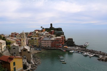 Cinque Terre Vernazza on the Amalfi Coast in spring, Italy