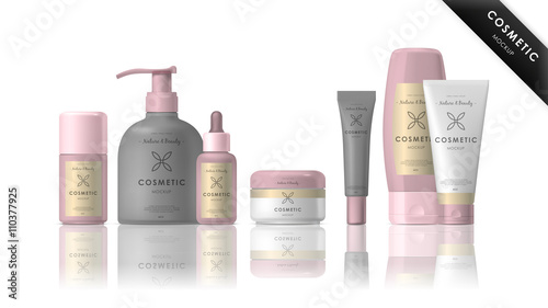 u0026quot cosmetic brand template  vector packaging  realistic