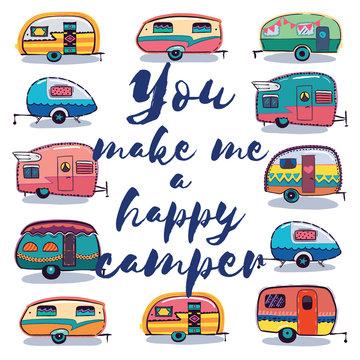 You make me a happy camper card