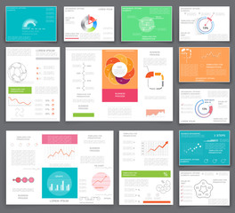 Business graphics brochures