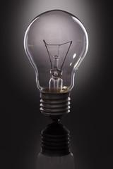 lamp on black background