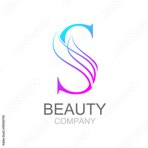 """""""Abstract Letter S Logo Design Template With Beauty"""