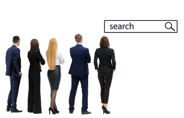 business people looking to search