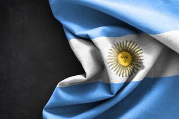Flag of Argentina on blackboard background