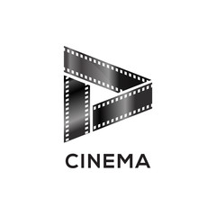 Abstract letter D logo for negative videotape film production