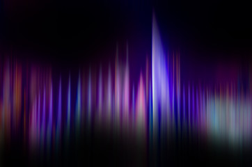 blue pink and purple colorful sound waves in black background