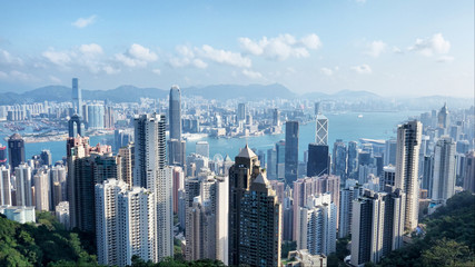 Aerial View of Hong Kong from the Peak