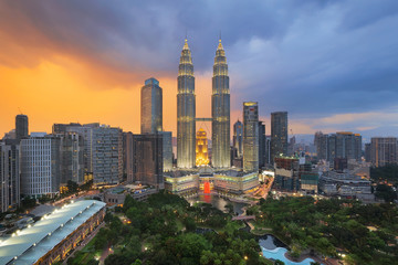 Top view of Park and Kuala Lumper city