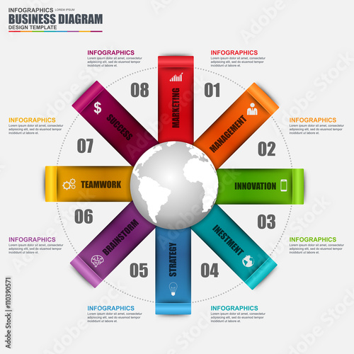 Infographic circular diagram vector design template can be used for infographic circular diagram vector design template can be used for workflow cycle layout friedricerecipe Choice Image