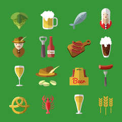 Beer Icon Flat Set