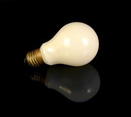 Bulb on a black background