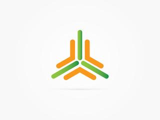 three pillars logo vector