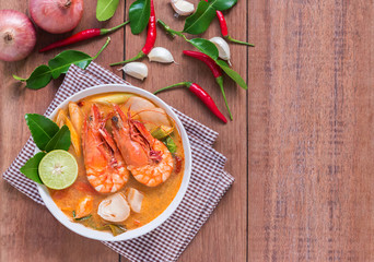 Tom Yam Kung and Ingredients, Thai cuisine.