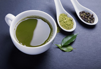 Wall Mural - Matcha tea in a cup