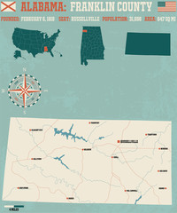Large and detailed map and infos about Etowah County in Alabama