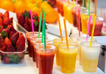 Fresh juices on the farmers market