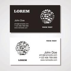 Interior and Furniture Designer business card template