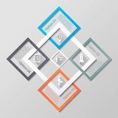 Infographic diamonds business template