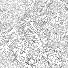Seamless pattern of hand-drawn abstract elements.