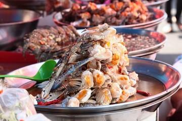 Sea food,  the street market