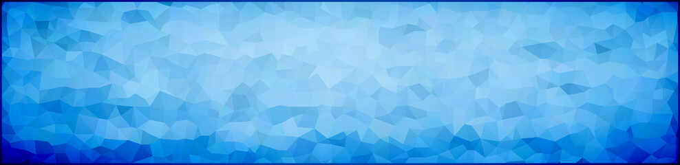 vector illustration - abstract mosaic banner, background of blue triangles