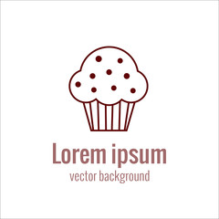 Bakery logo icon in outline style.