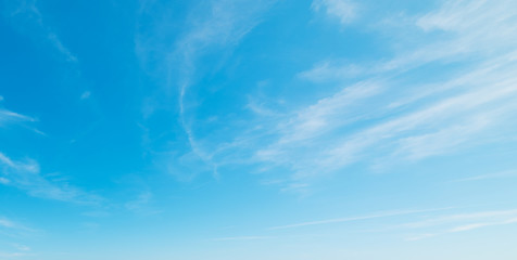 white clouds, blue sky
