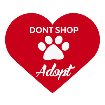 Adopt logo. Dont shop, adopt. Adoption concept. Vector illustration