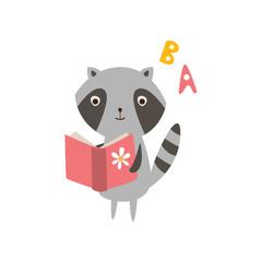 Raccoon Reading A Book