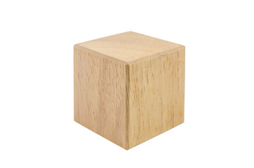 wooden cube block