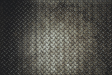 Rusty steel diamond plate texture Wall mural