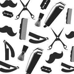 Barber shop design. hair salon. Stylist icon, vector illustration
