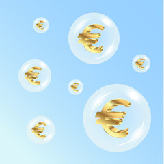 Euro in the air bubbles