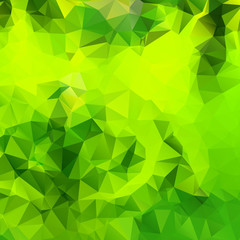 Green triangles. Vector