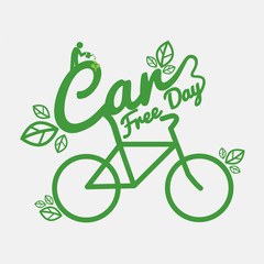 Car Free Day Concept Vector Illustration.