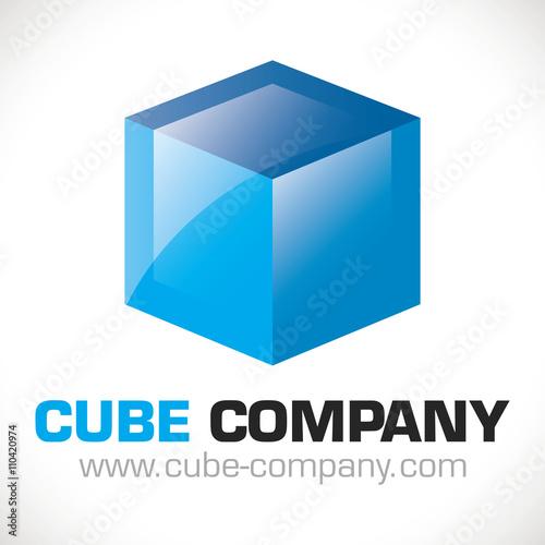 logo cube business concept cr ation entreprise bleu im genes de archivo y vectores libres de. Black Bedroom Furniture Sets. Home Design Ideas