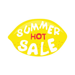 Lemon poster. Hot summer sale.