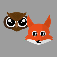 Animal face design. cartoon icon. vector illustration