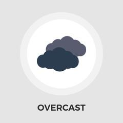 Overcast icon vector.
