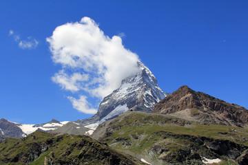 The world famous Matterhorn mountain from the Swiss town of Zermatt