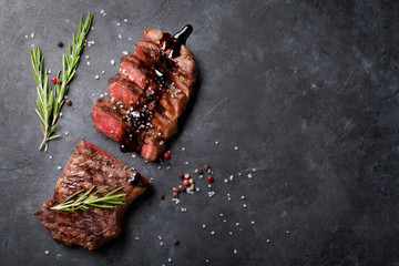 Wall Mural - Grilled striploin steak