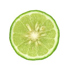 Bergamot[Kaffir lime] isolate on whit background