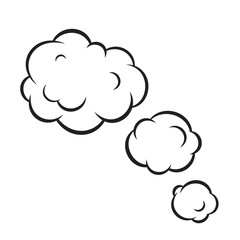 Pop art bubble clouds isolated vector illustration