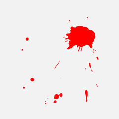 Vector red blob. eps 10