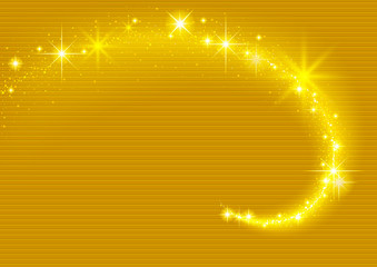 Gold Background with Sparkling Stream Effect - Abstract Illustration, Vector