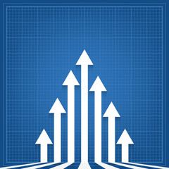 graph arrows blueprint background