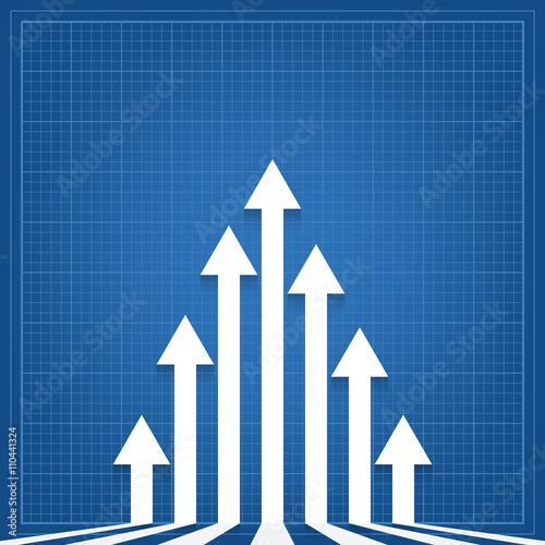 Graph arrows blueprint background stock image and royalty free graph arrows blueprint background malvernweather Choice Image
