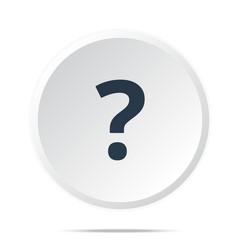 Black Question Mark icon on white web button